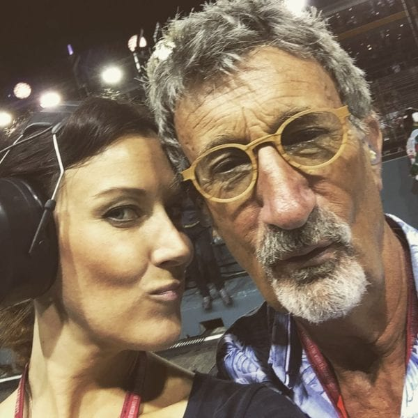 Lee McKenzie with Eddie Jordan