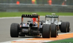 27.08.2011 The Belgium Grand Prix from the Spa-Francorchamps Circuit. Qualifying - Mark Webber, Red Bull.