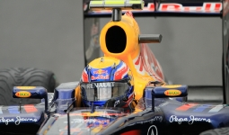 27.08.2011 The Belgium Grand Prix from the Spa-Francorchamps Circuit. Saturday free practice 3 - Mark Webber, Red Bull.